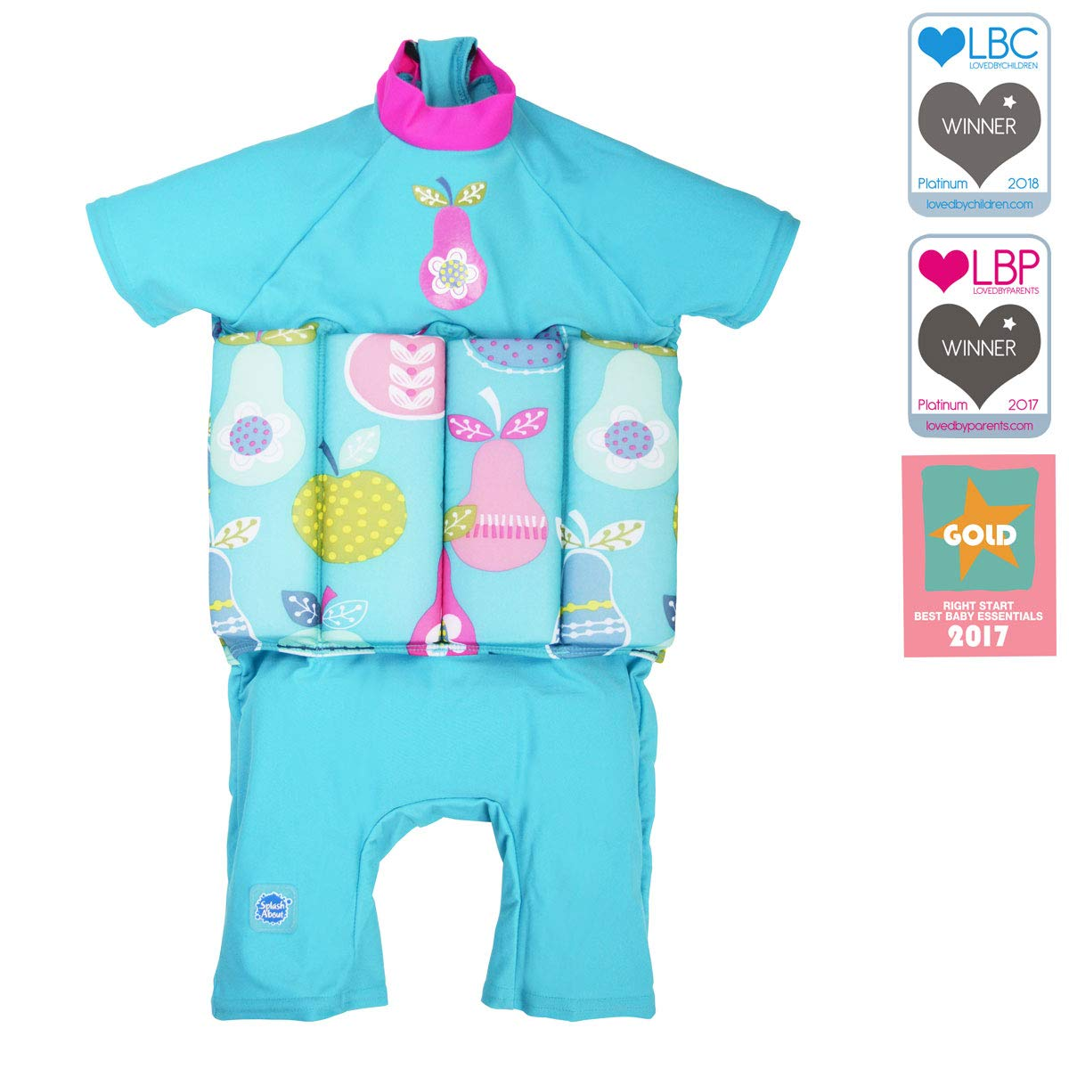 0a80eb45fb9b6 Amazon.com: Splash About Collections UV Sun Protection Float Suit with  Adjustable Buoyancy (Tutti Frutti, 1-2 Years (Chest: 51cm | Length: 37cm)):  Sports & ...