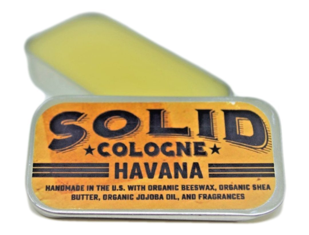 SOLID Cologne -Havana Scent - Men'sPocket-Size Fragrance. - .25 oz Tin