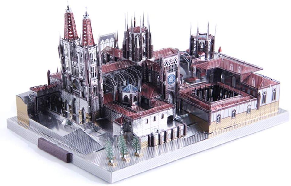 X-Toy Rompecabezas Juguetes para Niños Kits, Burgos Catedral Metal, Decoración del Hogar Y De La Navidad, 7.5Inch × 4.4 Pulg × 5.3Inch