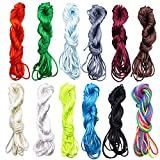 Rattail Stain Nylon Cord, Nylon Beading String Silk Cord for Necklace, Bracelet, Jewelry Making