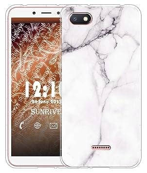 Sunrive Funda para Xiaomi Redmi 6A, Silicona Slim Fit Gel Transparente Carcasa Case Bumper de Impactos y Anti-Arañazos Cojín de Aire Espalda Cover(TPU ...