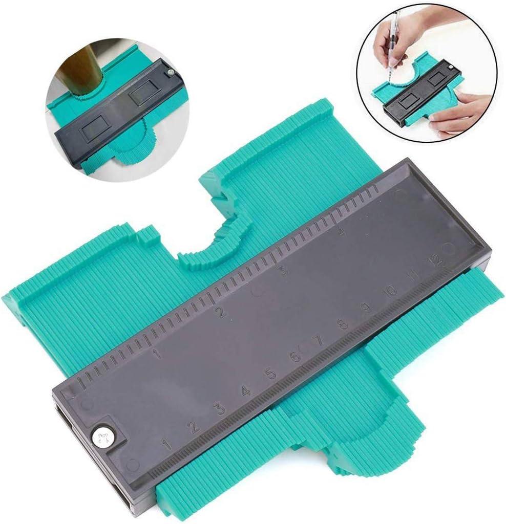 Contour Gauge Duplicator, Medidor Contornos Ideal para Azulejos Edge Shaping Madera Medida & Azulejos laminados (verde): Amazon.es: Bricolaje y herramientas