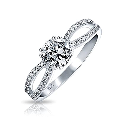 Amazoncom Bling Jewelry Sterling Silver CZ Infinity Engagement