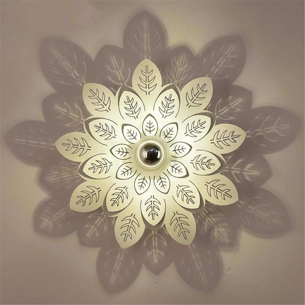Moderne Wandleuchte LED kreative Blütenblatt Schatten Eisen Wandleuchte Wandleuchte Nachttischlampe moderne Einfachheit Hotel Stil für Schlafzimmer Wohnzimmer Flur, 25 cm
