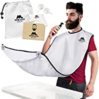 Best Beard Bib for Shaving - The Smart Way to Shave - Beard Trimming Apron - Perfect Grooming Gift or Mens Birthday Gift - Includes Free Shaping Comb, Bag, and Grooming E-book by Mobi Lock
