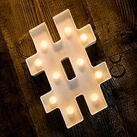 Foaky LED Letter Lights Sign 26 Alphabet Light Up Letters Sign for Night Light