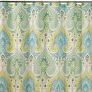Amazon Com Tahari Izmir Fabric Shower Curtain Blue Green