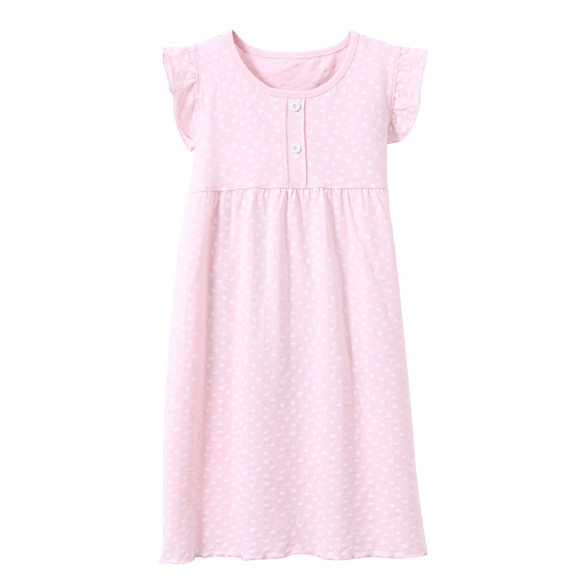 DGAGA Little Girls Princess Nightgown Cotton Lace Bowknot Sleepwear Nightdress (5-6 Years/120cm, Pink) by DGAGA (Image #1)