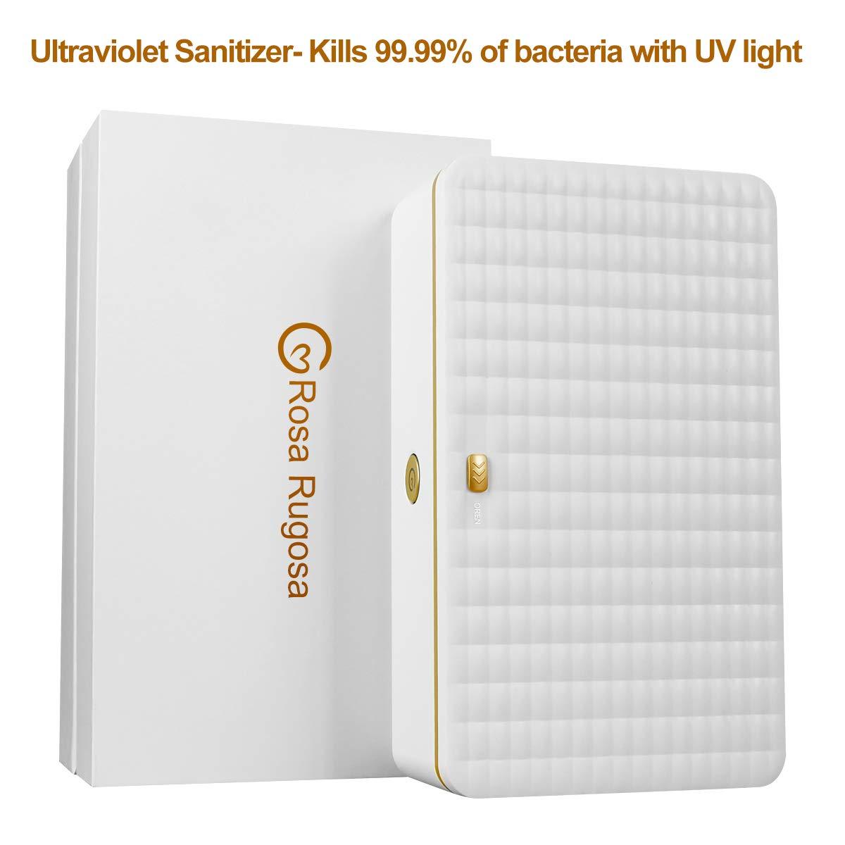 KMESOYI UVライト 殺菌ボックス ポータブル 紫外線ライト 殺菌ボックス 殺菌ランプ 携帯電話 おしゃぶり 歯ブラシ メイクアップブラシ サロンツール テーブルウェア B07K23XRHH