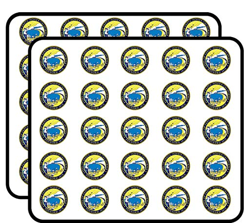 Round Santa Monica City Seal (ca California) Sticker for Scrapbooking, Calendars, Arts, Kids DIY Crafts, Album, Bullet Journals ()