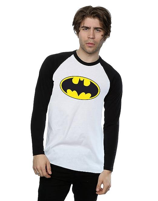 b5d5c82ac DC Comics hombre Batman Logo Camisa de manga larga de béisbol  Amazon.es   Ropa y accesorios