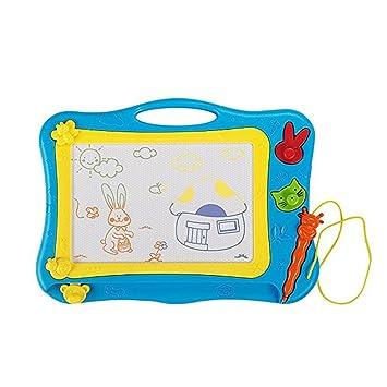 MIMINUO Juguetes educativos - Pizarra magnética colorido - Pizarras Mágicas con Pluma y Animal Sello Dibujo de Pintura para Niños 3 Años (Azul)