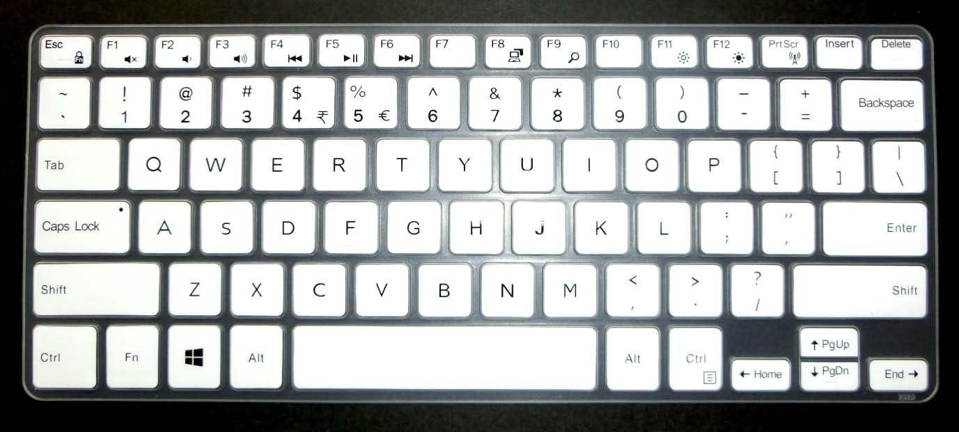 BingoBuy US Layout Keyboard Protector Skin Cover for 11.6'' Dell Inspiron 11-3162 11-3168 11-3169 11-3179 11-3180 11-3185 11-3195 i3162 i3168 i3169 i3179 i3180 i3185 i3195 Card Case (White)