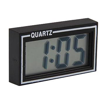 Mini Carro de Coche LCD Tablero de Instrumentos Auto Reloj Digital Calendario de Escritorio Fecha: Amazon.es: Coche y moto
