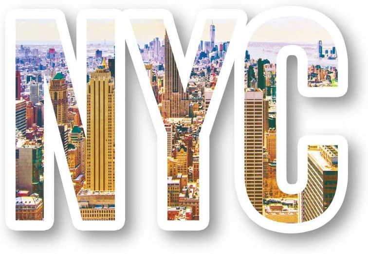 NYC Skyline Sticker New York Stickers - Laptop Stickers - 2.5