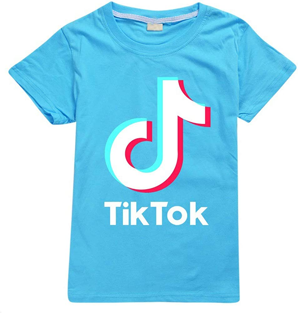 Dgfstm TIK Tok Bambini Bambini T Shirt Ufficiale delle Ragazze dei Ragazzi Top Mucially
