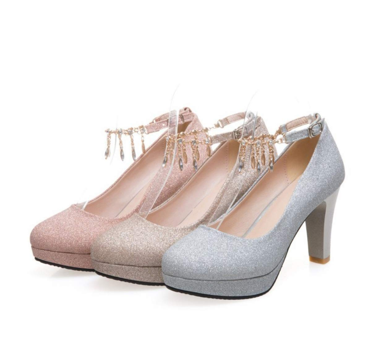DANDANJIE Frauen Hochzeit Schuhe Stöckel Absatz Mode Mode Mode Schuhe High Heel Plattform Knöchelriemen Schuhe für 2019 Frühling db0761