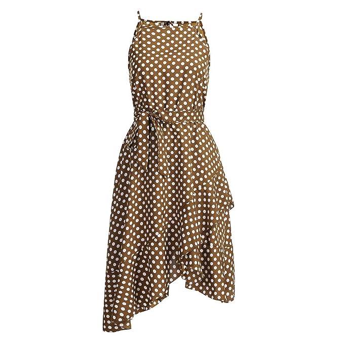 b9d6fc4612b Vestidos De Fiesta Mujer Cortos Elegantes Punto De Onda Estampado Vestido  Largo Elegante para Mujer De Fiesta para Boda Ceremonia Maxi Beladla   Amazon.es  ...