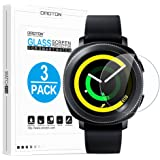 [3 Pack] Samsung Gear S2 / Gear Sport Screen Protector, OMOTON Tempered Glass Screen Protector for Gear S2 / Gear Sport [9H Hardness] [No-Bubble] [Crystal Clear]