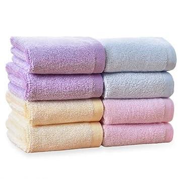 GYwink Toalla de Ducha Set de Toallas de toallitas de Colores de Fibra de bambú 8pcs Toalla de Cara (Color : Azul): Amazon.es: Hogar