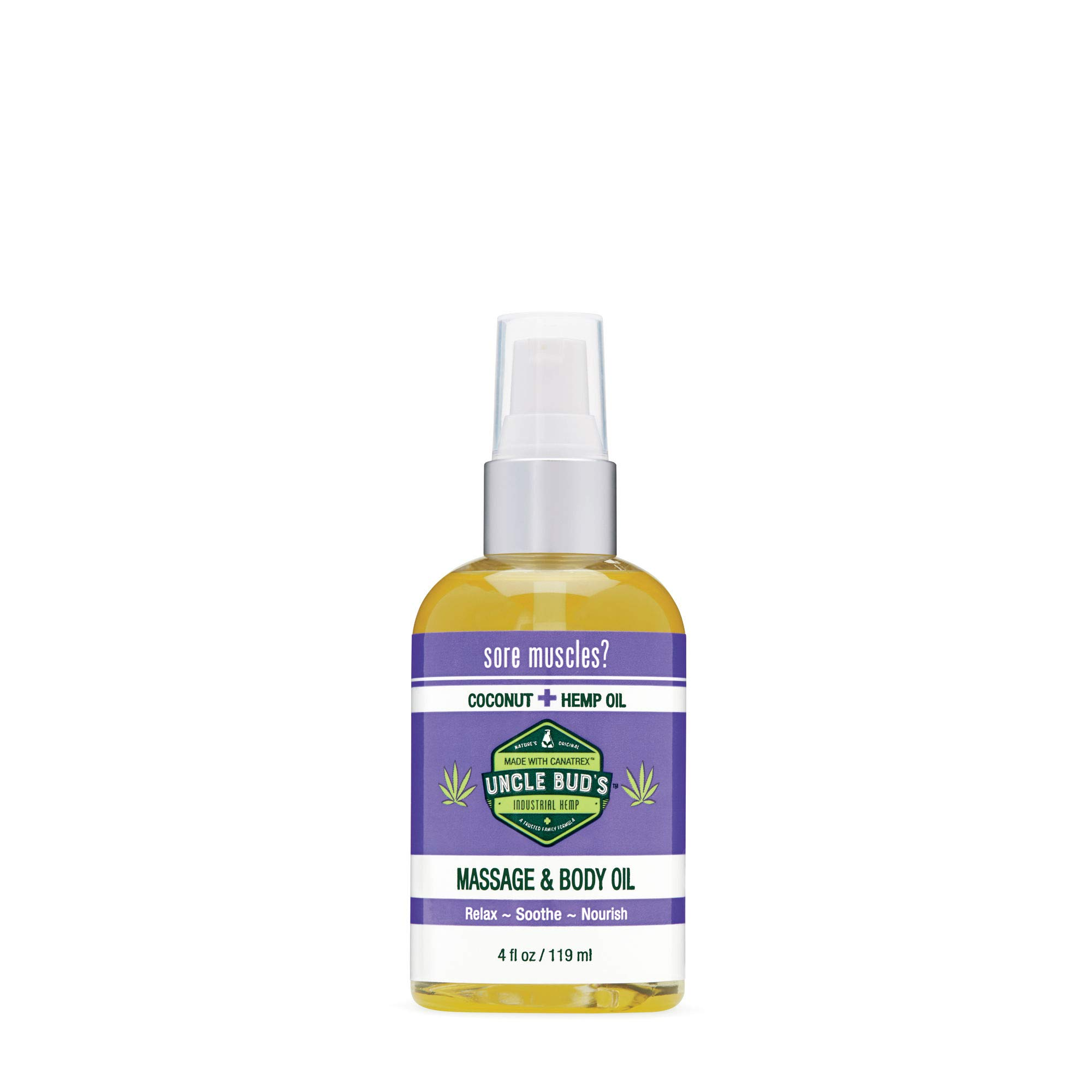 Uncle Buds Topical Pain Reliever Hemp Oil For Everyday Organic Infant Massage 100ml Coconut