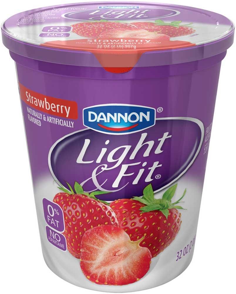 Light and Fit Quarts Strawberry Greek Nonfat Yogurt, 32 Ounce -- 6 per case.