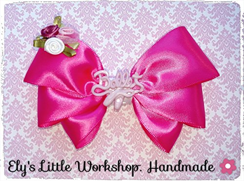 Boutique Ballet Hair Bow Clip, 100% Handmade Tri-Ribbon Hair Bows. Beautiful Style, Alligator Clip 2