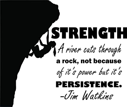 Amazon Com Strength Persistence Dedication Rock Climbing