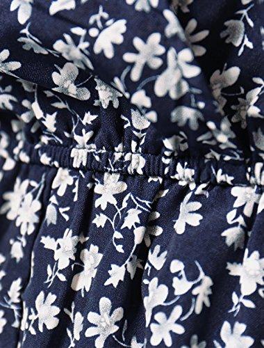 Femmes Manches K Élastique Romper Châle Floral Taille Bracelet Blue Allegra Ux5wdZq0x