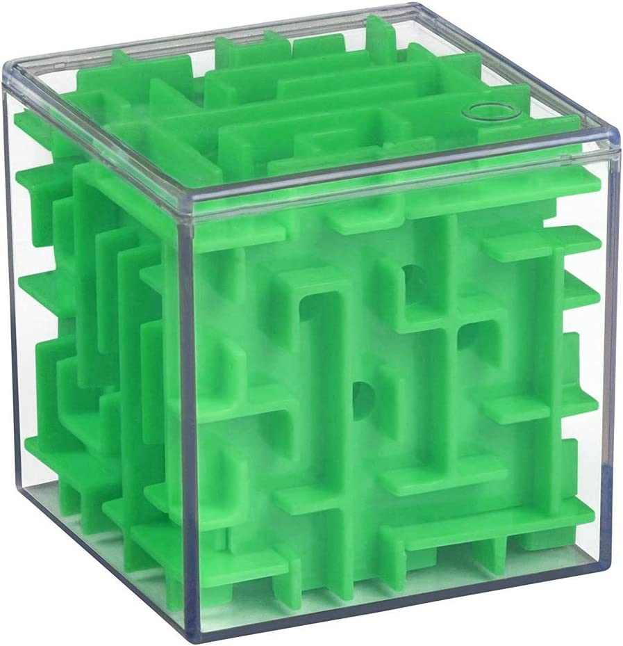 Mini 3D Maze Cubo Transparente Beads Juguetes Tridimensional Laberinto De Bolas Girar El Cubo De Rubik Hijos De Puzzle 1pc Inteligencia Juguetes Verde: Amazon.es: Juguetes y juegos