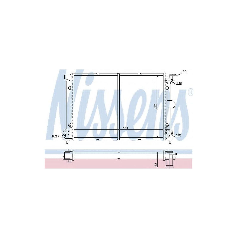 Nissens 65195 Radiador, refrigeració n del Motor refrigeración del Motor
