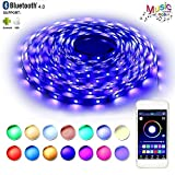 bedroom color palettes LED Strip Lights, Flexible Strip Lights, BAILONGJU LED Lights Sync To Music 32.8ft 300leds 10m Non-Waterproof RGB Color Changing SMD 5050 Adhesive Light Strip with Bluetooth Smartphone App Controlled