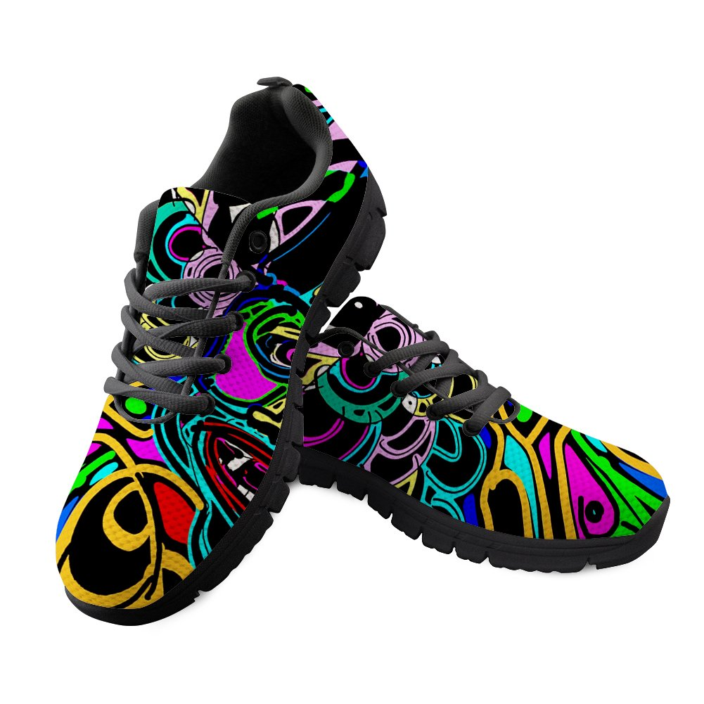 FancyPrint Breathable Mens Knit Breathable Shoes Walking Running Sneaker EU37=Women US 7B|Nyeca5541baq