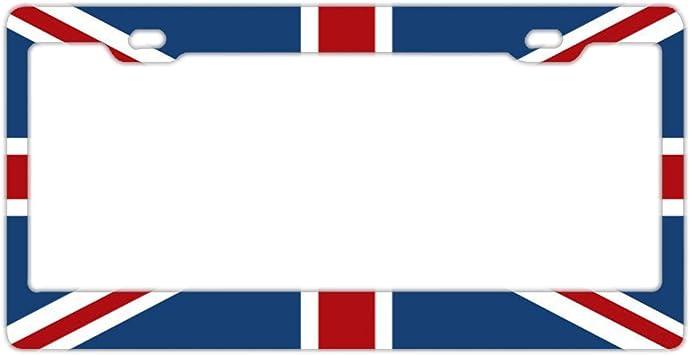 Union Jack License Plate Frame Tag Holder