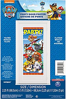 PAW PATROL birthday party decoration 5ft Door Banner Poster free shipping