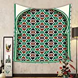 Gzhihine Custom tapestry Moroccan Tapestry Decor Middle Eastern Ramadan Greeting Scroll Arch Figure Celebration Holy Eid Theme for Bedroom Living Room Dorm Golden Brown