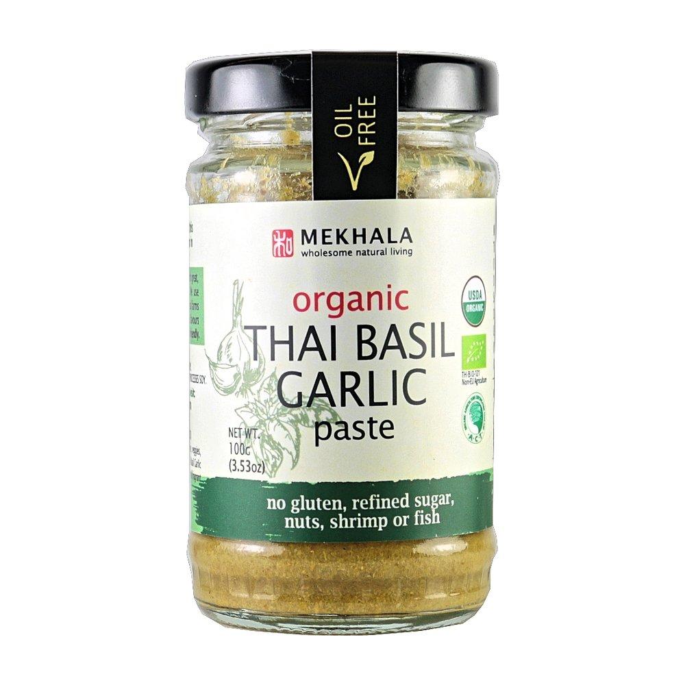 Mekhala Organic Gluten Free Thai Basil Garlic Paste 3.53oz