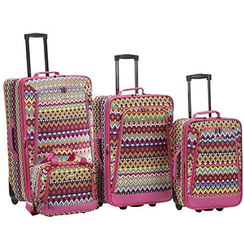 (Rockland 4 Piece Luggage Set Tribal, Tribal, One Size)