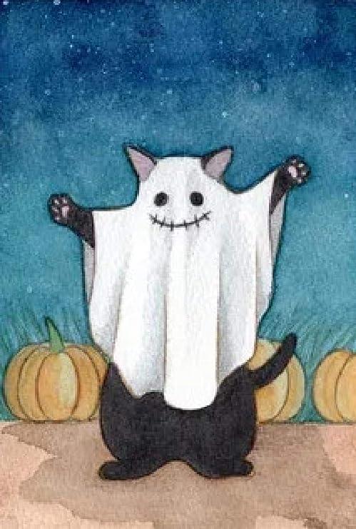 Non Branded Pintura por Números para Adultos Gato Fantasma Kits ...