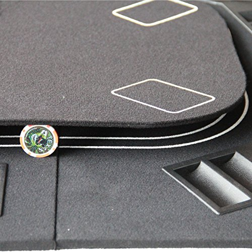 3 in 1 Folding Casino Texas Hold'em Table Top Black (Poker/Craps/Roulette) with Carrying Bag by IDS Home (Image #6)
