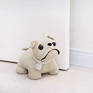 Marwood Cute Decorative Door Stopper for Home and Office Door Stopper, Bulldog Weighted Interior Fabric Design Door Stopper