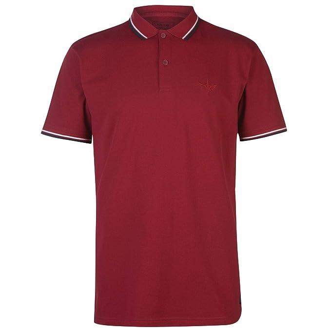 Firetrap Hombre Lazer Camiseta Polo Rumba Rojo M: Amazon.es: Ropa ...