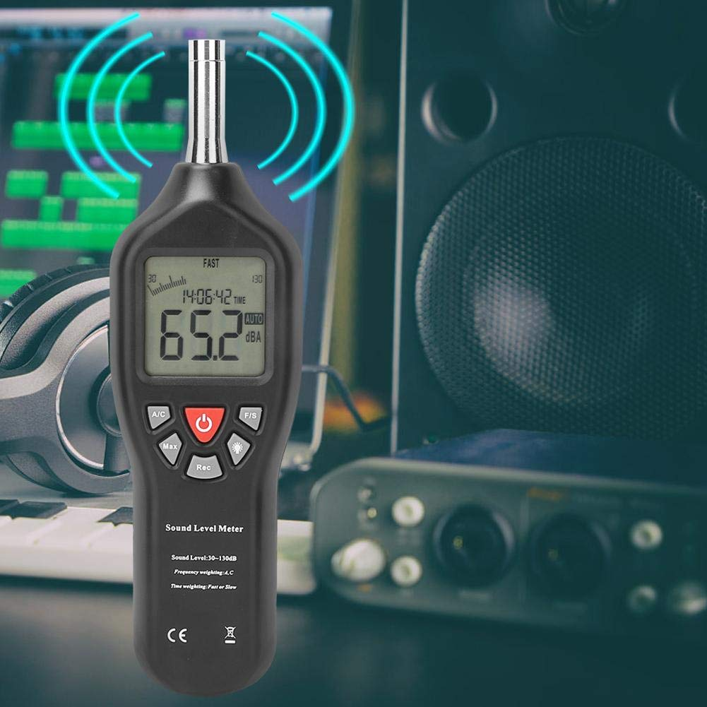30dB-130dB Professional USB Power Supply Sound Level Meter Data Logger Noise Audio Tester for Music Recording Industrial or Office Settings Sound Level Meter