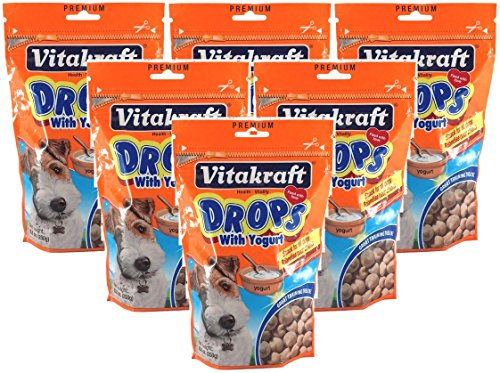 (VitaKraft 6 Pack of Drops with Yogurt Dog Treat Snacks, 8.8 Ounces Per Pack)