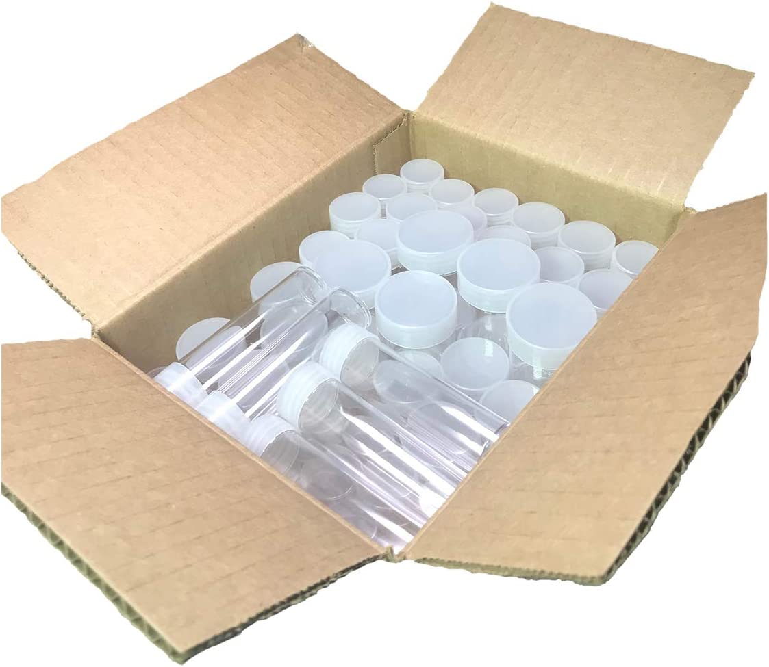 50 Coin Tubes, Assorted Sizes - Crystal Clear and Archival Safe