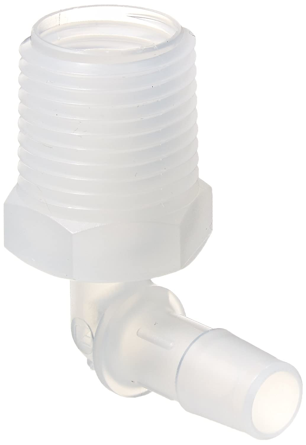 Pack of 10 1//2-14 NPT Thread to 3//8 Barb Pack of 10 1//2-14 NPT Thread to 3//8 Barb Eldon James L8-6PP Non-Animal Derived Polypropylene Threaded Elbow