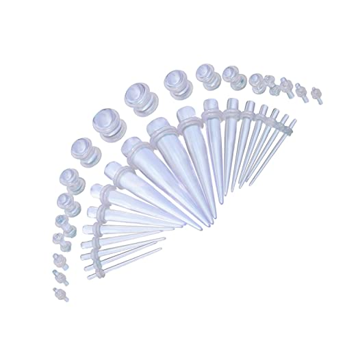 taper gauge kit. bodyj4you gauge kit 18 pairs clear acrylic tapers \u0026 plugs 14g-00g 36 pieces taper k