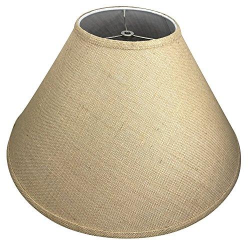 FenchelShades.com 7″ Top Diameter x 20″ Bottom Diameter x 12″ Slant Height Lampshade Retro Rustic Vintage Hardback Liner USA Made (Burlap Natural) 61P9mYlcOGL