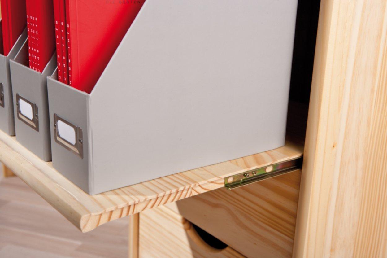 Inter Link Alpine Living Holzschreibtisch Computertisch B/ürom/öbel Arbeitstisch Kiefer massivholz Natur lackiert