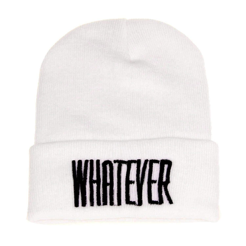 REBORNS Men and Women Fashion Cap Winter Black Whatever Beanie Hat